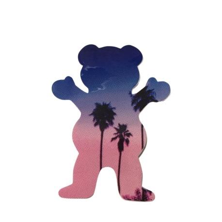 Adesivo Grizzly Palms Bear Blue P (7,5cm x 6cm)