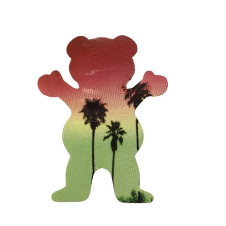 Adesivo Grizzly Palms Bear Red P (7,5cm x 6cm)