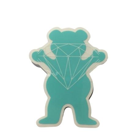 Adesivo Grizzly x Diamond Og Bear Green P (6,5cm x 5,5cm)