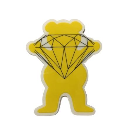 Adesivo Grizzly x Diamond Og Bear Yellow P (6,5cm x 5,5cm)