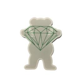 Adesivo Grizzly x Diamond Og Bear Grey P (6,5cm x 5,5cm)