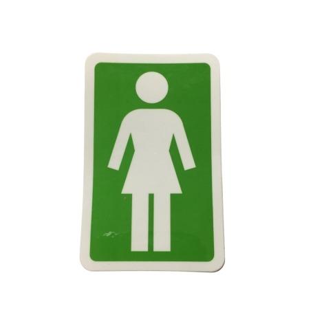 Adesivo Girl Og Green P (7,5cm x 5cm)
