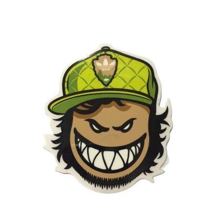 Adesivo Spitfire Bighead Collab Adidas Green P (8cm x 6,5cm)