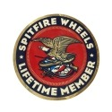Adesivo Spitfire John Cardiel Life Time Member - (19cm x 19cm)