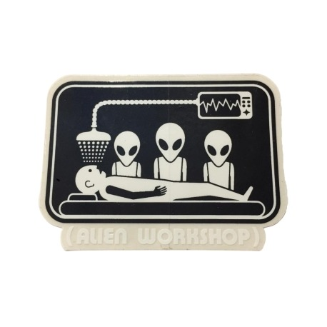 Adesivo Alien Workshop Abduction (8cm x 6cm)