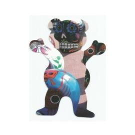 Adesivo Grizzly Dia de Los Muertos P Rod Bear M - (12,5cm x 10cm)