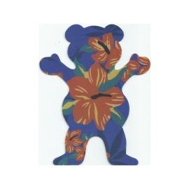 Adesivo Grizzly Tropical Bear Blue M (12,5cm x 10cm)
