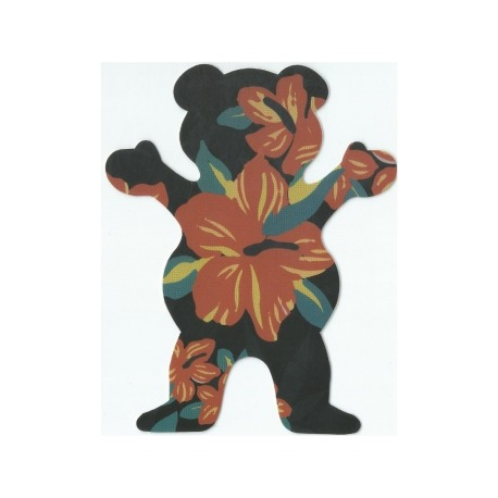 Adesivo Grizzly Tropical Bear Black M (12,5cm x 10cm)
