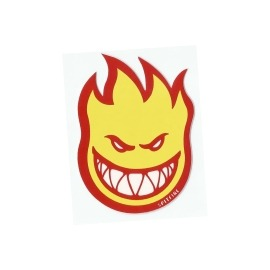 Adesivo Spitfire Bighead Yellow/Red P - (8cm x 6cm)