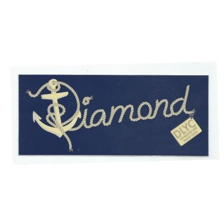 Adesivo Diamond Yacht Script Azul - (7,5cm x 17,5cm)