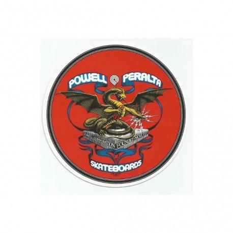 Adesivo Powell Peralta Banner Dragon - (10,5cm x 10,5cm)