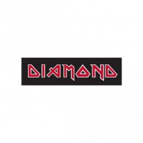 Adesivo Diamond Maiden Black/Red - (5,5cm x 20cm)