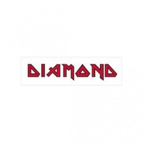 Adesivo Diamond Maiden White/Red - (5,5cm x 20cm)