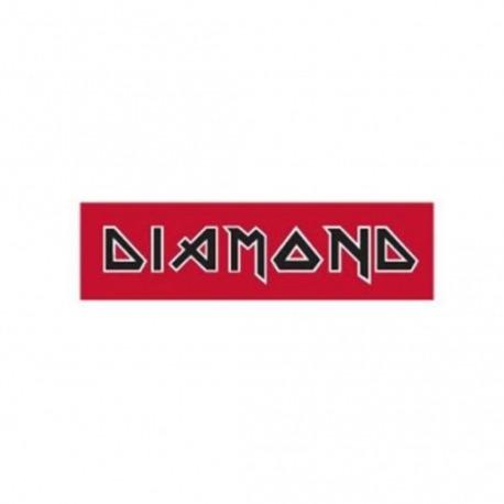 Adesivo Diamond Maiden Red/Black - (5,5cm x 20cm)