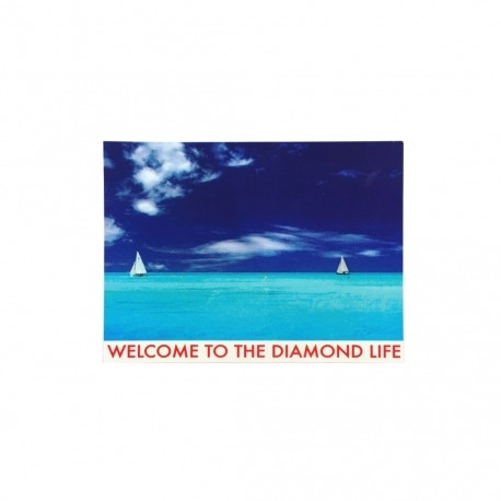 Adesivo Diamond Welcome to the Diamond Life (9,5cm x 13cm)