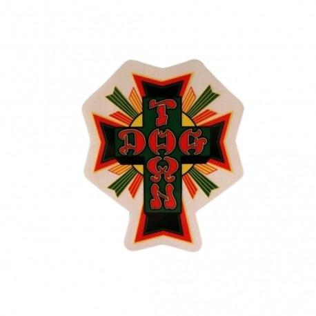 Adesivo Dog Town Cross Rasta - (10,5cm x 9cm)