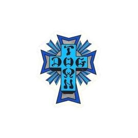 Adesivo Dog Town Cross Blue - (10,5cm x 9cm)