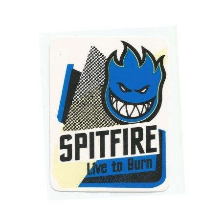 Adesivo Spitfire Live To Burn - (11,5cm x 9cm)