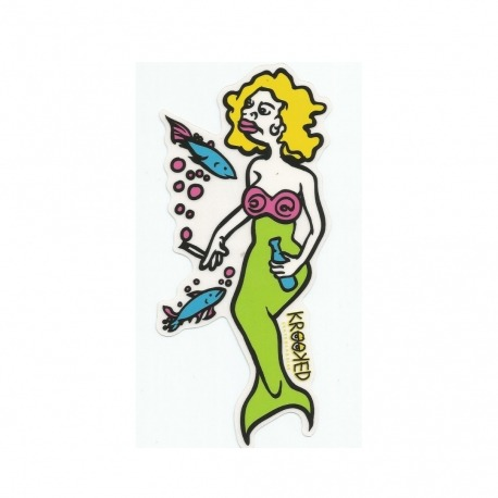 Adesivo Krooked Mermaid Yellow/Green M - (16cm x 7,5cm)