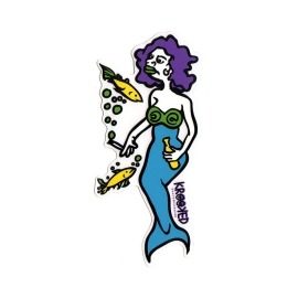 Adesivo Krooked Mermaid Purple/Blue M - (16cm x 7,5cm)