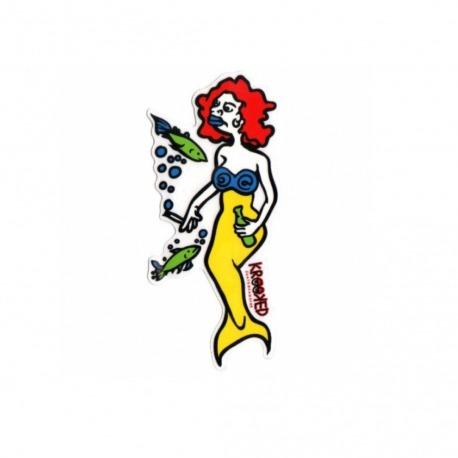 Adesivo Krooked Mermaid Red/Yellow M - (16cm x 7,5cm)