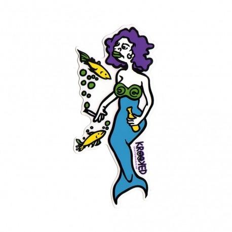 Adesivo Krooked Mermaid Purple/Blue G - (25cm x 10cm)