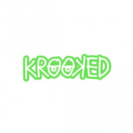 Adesivo Krooked Logo Green - (4cm x 13cm)