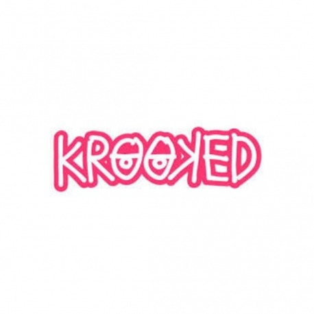 Adesivo Krooked Logo Pink - (4cm x 13cm)
