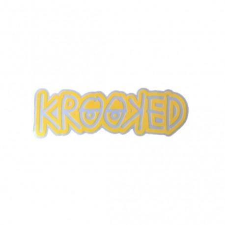 Adesivo Krooked Logo Yellow - (4cm x 13cm)