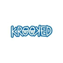 Adesivo Krooked Logo Blue - (4cm x 13cm)