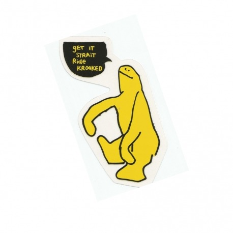 Adesivo Krooked Get It Straight Yellow - (14,5cm x 8,5cm)
