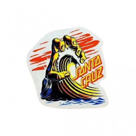 Adesivo Santa Cruz Wave Hand P - (8,5cm x 8cm)