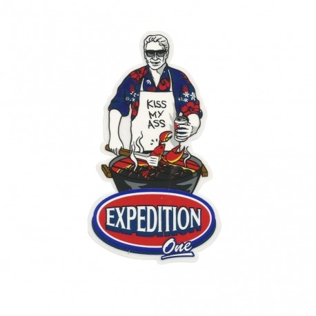 Adesivo Expedition Kiss My Ass - (12,5cm x 7,5cm)