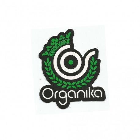 Adesivo Organika Green Logo - (8,5cm x 7,5cm)