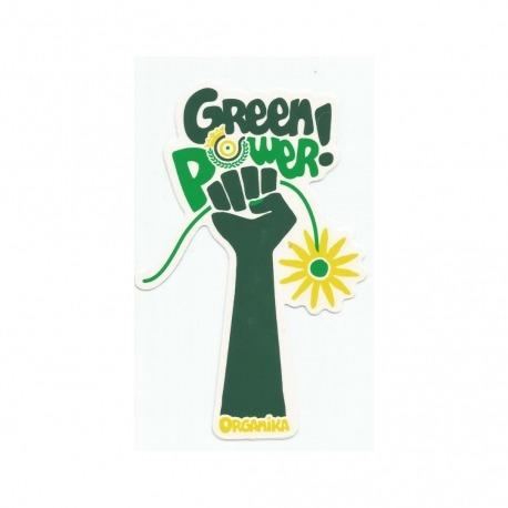 Adesivo Organika Green Power White -  (15,5cm x 10cm)