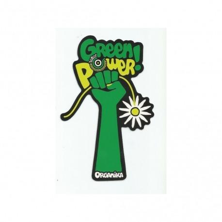 Adesivo Organika Green Power Black -  (15,5cm x 10cm)
