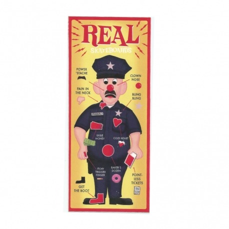 Adesivo Real Police - (16,5cm x 7cm)