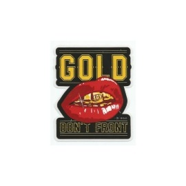 Adesivo Gold Don't Front - (8,5cm x7,5cm)