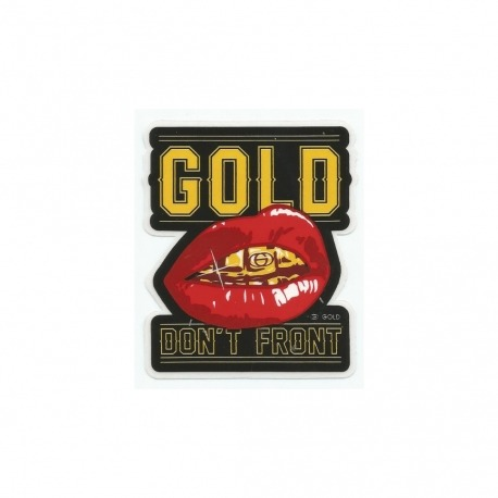 Adesivo Gold Don't Front (8,5cm x7,5cm)