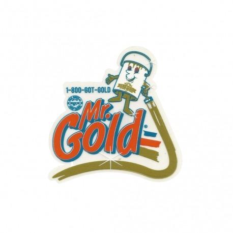 Adesivo Gold Mr - (9,5cm x 9,5cm)