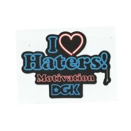 Adesivo DGK I Love Haters Motivation - (9,5cm x 13cm)