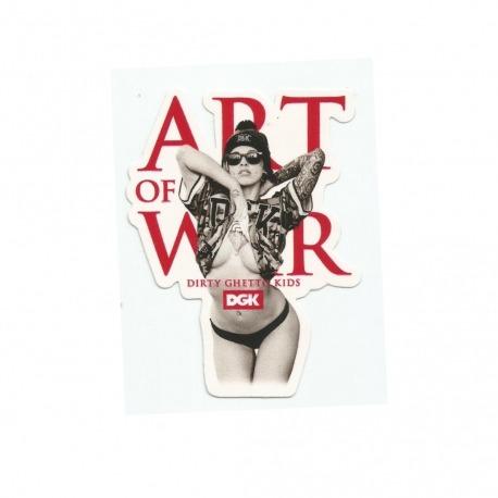 Adesivo DGK Art of War - (10,5cm x 8cm)
