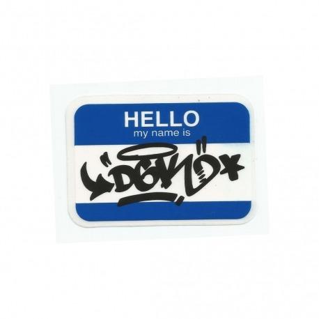 Adesivo DGK My Name Is Blue - (6cm x 9cm)