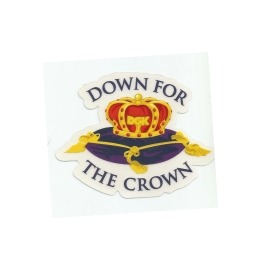 Adesivo DGK Down for the Crown - (7,5cm x 9,5cm)
