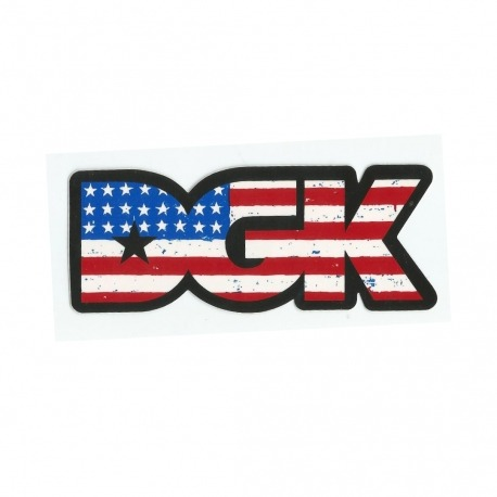 Adesivo DGK USA Flag - (5cm x 12,5cm)