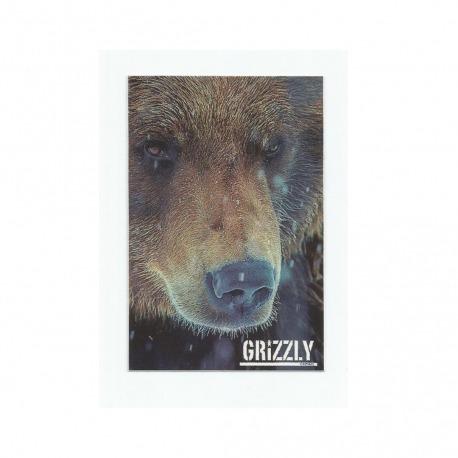 Adesivo Grizzly Urso Photo - (11,5cm x 7,5cm)