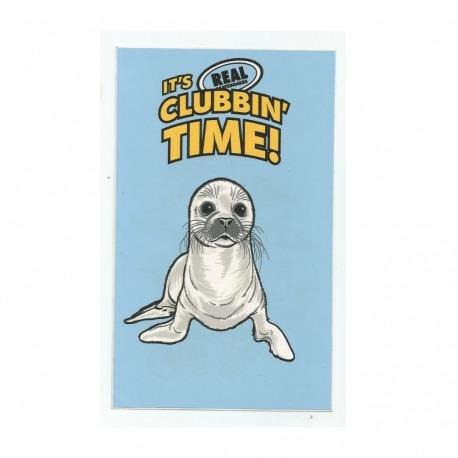 Adesivo Real Clubbin Time - (16,5cm x 10cm)