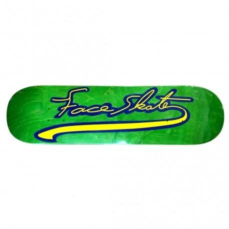 Shape Face Skate Baseball Logo Verde