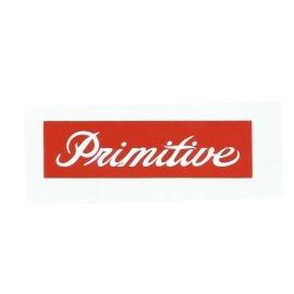 Adesivo Primitive Box Classic Script Red- (10cm x3cm )