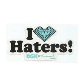 Adesivo DGK x Diamond I Love Haters - (14cm x 7,5)